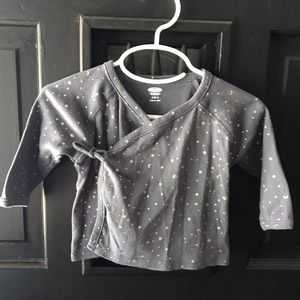 Old Navy wrap shirt for baby - space theme!